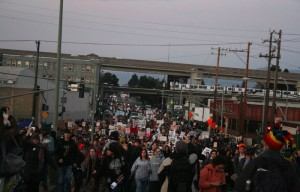 Members of Occupy Cal joined Occupy Oakland and others in their march to shut down the Port of Oakland.