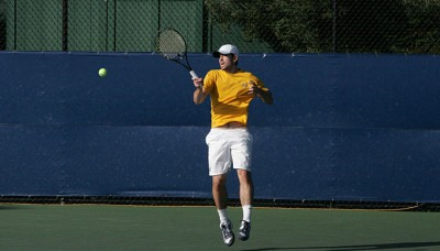 Senior Nick Andrews holds a 10-7 overall singles record this year.