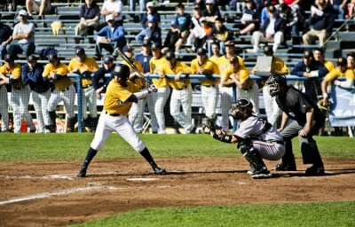 The Cal men's baseball team upended the Longhorns, 12-2, in the second of three meetings on Saturday.