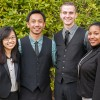 CalSERVE senators Sydney Fang, Anthony Galace and Andrew Albright and co-chair of the campus Black Student Union Naomi Wilson comprise the CalSERVE executive slate.