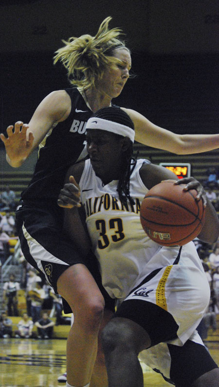 Junior center Talia Caldwell has averaged 8.4 points and 6.4 rebounds on the season thus far.