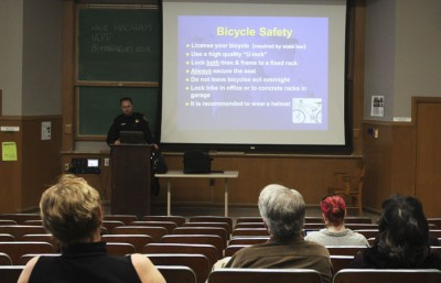UCPD held a safety meeting Wednesday afternoon.