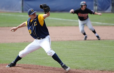 Closer Logan Scott gave up two earned runs in the ninth inning on Friday to take a loss at USC.