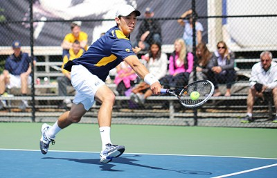 Cal sophomore Ben McLachlan beat both Oregon's Alex Rovello and UW's Emmett Egger in two sets on court two.