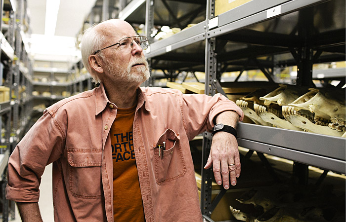 Professor emeritus Jim Patton studies mammals and curates the Museum of Vertebrate Zoology.