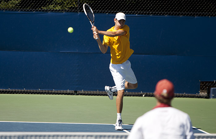 Senior Nick Andrews dropped his top-court tilt against Stanford's Bradley Klahn in Friday's home loss. Andrews was one of five Cal players to lose his singles match.