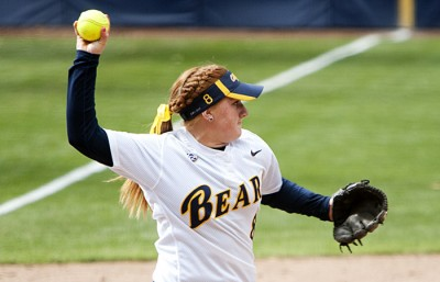 Freshman third baseman Danielle Henderson gave Cal a much-needed boost with a two-run double in the third inning.