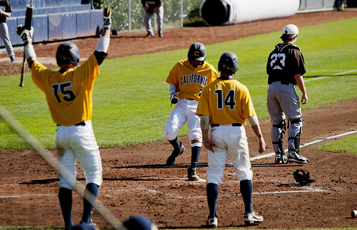 Cal scored 15 runs on 17 hits on Saturday at Stanford to win the year's final regular season series.