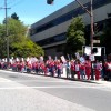 Registered nurses picket outside the Alta Bates Summit Medical Center on Telegraph Avenue to strike against proposed cutbacks.