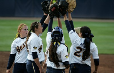 The Cal softball took down Iona 8-0 in a five-inning mercy win Friday night, advancing to play Arkansas on Saturday.