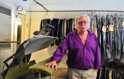 Helmut Drewes has worked at the Jim the Tailor shop for 50 years.