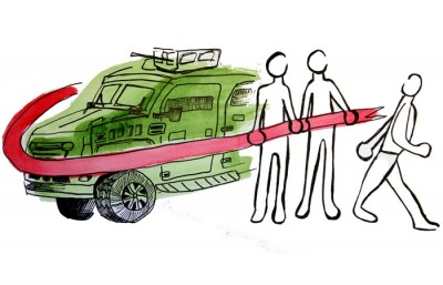 armed vehicle illustration