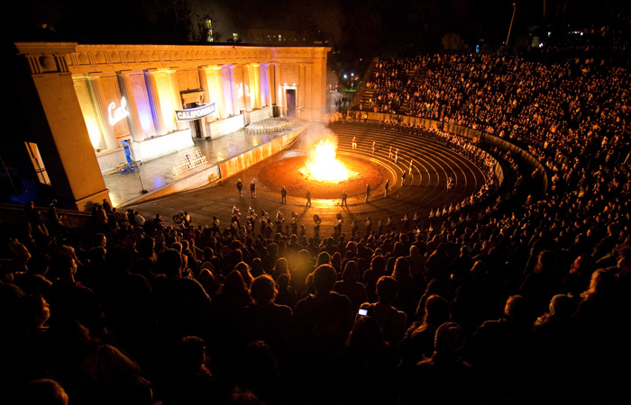 The Big Game Bonfire Rally at The Greek Theater before the Big Game in November 2009.