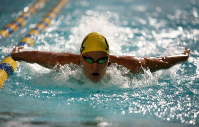 Caitlin Leverenz won a bronze medal in the 200 IM, becoming the fifth Cal athlete to medal in London.
