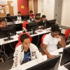 Students work during a computer science class in 273 Soda Hall.