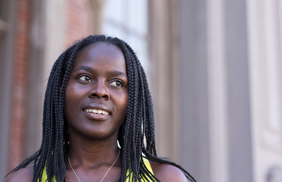 Aisha Kingongo is one of the seven students from Africa who receives a full-ride scholarship to UC Berkeley courtesy of the MasterCard Foundation Scholars Program. The program aims to boost the enrollment of African students at UC Berkeley.