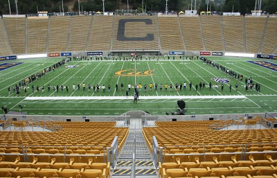 Cal Band at practice earlier in the week in anticipation of the Big Game. (Leya Andrews/Staff)