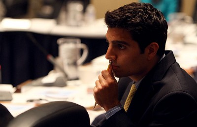 Jonathan Stein, Student Regent, attends the May 16th, 2012 UC Board of Regents meeting. The board will reconvene from Tuesday to Thursday at USSF Mission Bay.