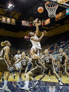 Junior forward Gennifer Brandon went 6-for-11 for 17 points in Cal's 80-48 win in its season opener against Lehigh.