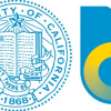 The UC's seal is on the left; the new logo is on the right.