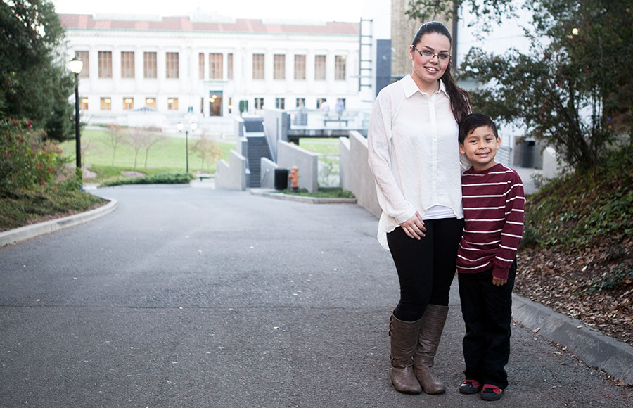 Melissa Padilla and her son.