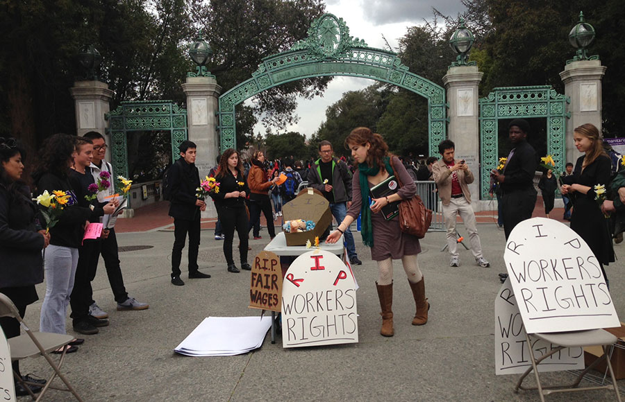 about 15 students from the berkeley