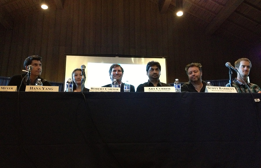 The UC Berkeley chapter of Delta Sigma Pi hosted a speaker panel on crowd funding in Anna Head Hall on April 9.