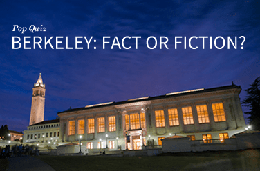 Pop quiz: Berkeley: Fact or Fiction?
