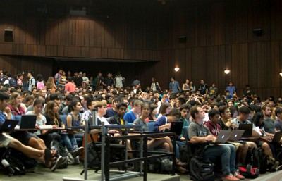Wheeler Hall is not large enough to accomodate the 1,098 students enrolled in CS61A.