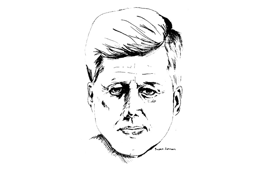 This illustration was published on Charter Day March 23, 1962. President John F. Kennedy was among the speakers that day.