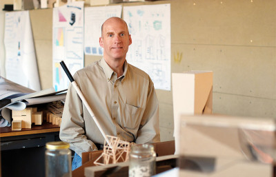 Chris Downey lost his eyesight in 2008 after a tumor-removal operation on his optic nerve but continues to design buildings and teach.