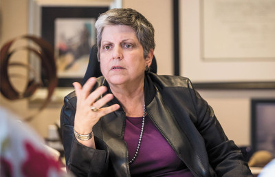 Janet Napolitano succeeded Mark Yudof as the 20th UC President after serving as the Secretary of Homeland Security in Washington D.C. under President Barack Obama.