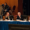 Many members of the UC Board of Regents, some of whom are shown here with Gov. Jerry Brown (right) at their Jan. 22 meeting, do not come from academic backgrounds. Some student groups hope to see board vacancies filled by more academics in the future.