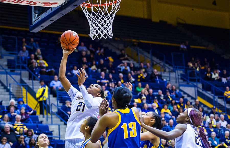Cal's Reshanda Gray shoots against UCLA on Jan. 26.