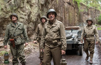 The film, written and directed by George Clooney, is a war narrative that has not yet decided whether it wants to be a comedy or a war movie.