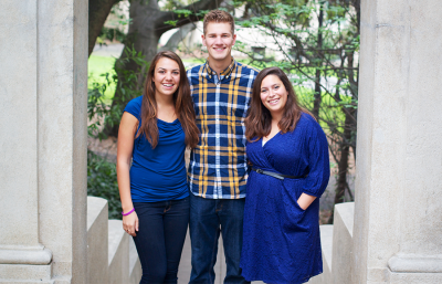 Dree Kavoussi (left), Grant Genske and Madison Gordon are third party SQUELCH!'s candidates for ASUC Senate.