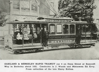 "Photo from ""Early Day Trolleys of the East Bay"" (The Western Railroader, Vol. 22, No. 4; February 1959)"
