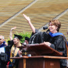 Speaker Nancy Pelosi congratulates graduates.