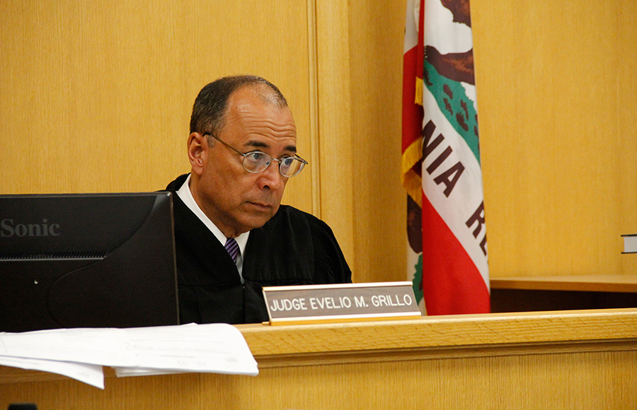 Alameda County Superior Court Judge Evelio Grillo presides over an Aug. 29 hearing about whether ballot language for a controversial Berkeley initiative is biased and misleading.