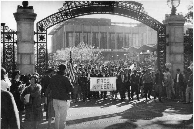 Protest on Sproul Plaza during the Free Speech Movement