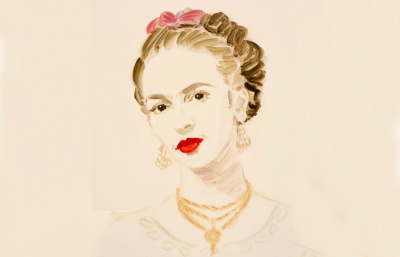 Kevans,-Frida-Kahlo,-2014,-oil-on-paper,-16-x-12-inches