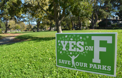 Measure F passed early Wednesday morning with 75% of cast ballots in its favor. Measure F will raise the special parks tax to fund staffing, maintenance and improvements for public spaces such as the Berkeley Rose Garden and children's play areas.