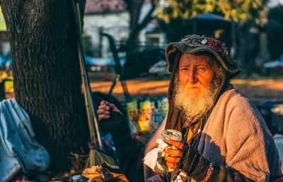 Mark Hawthorne, also known as 'Hate Man,' is a well-known Berkeley homeless man who has lived in Berkeley since 1973 and died on April 2, 2017.