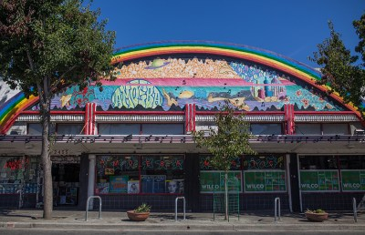 Amoeba Music's Berkeley location is housed at the corner of Telegraph Avenue and Haste Street.