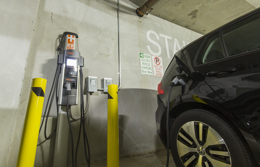 A charging station is currently located in the Oxford Garage in Downtown Berkeley, although it is not part of the pilot program.