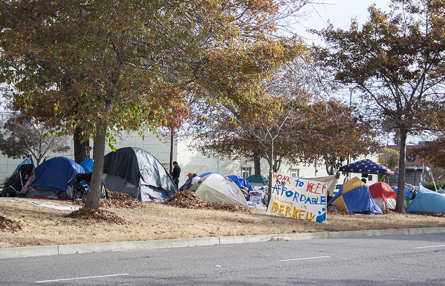 Homeless community protests Berkeley homeless services system