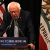 """Bernie Sanders speaks at a press conference on campus June 3. On Dec. 2, Sanders spoke at Zellerbach Hall while promoting his new book, """"Our Revolution."""""""
