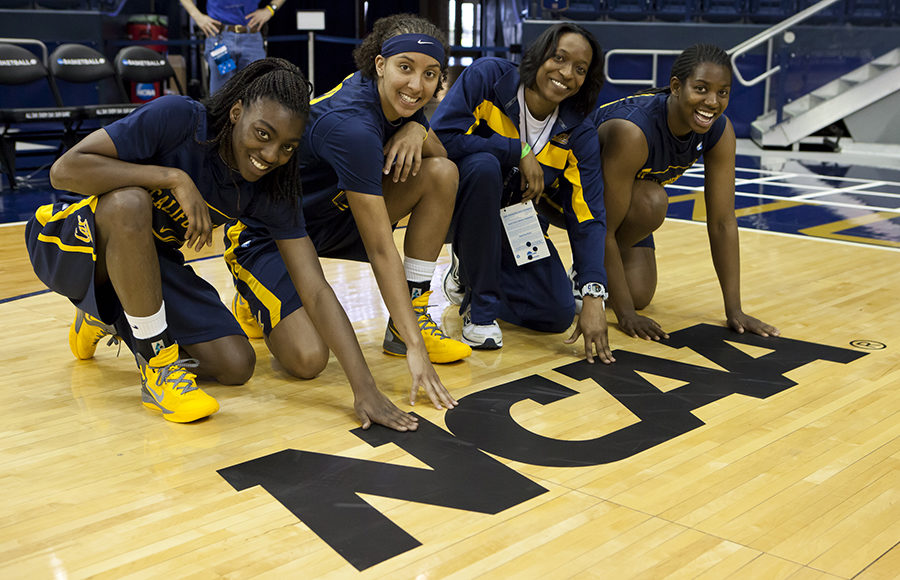 The Cal women's basketball team prepares for the 2012 NCAA Tournament in South Bend, Indiana.