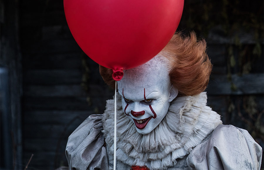 Bill Skarsgard as Pennywise in the film adaptation of Stephen King's It.
