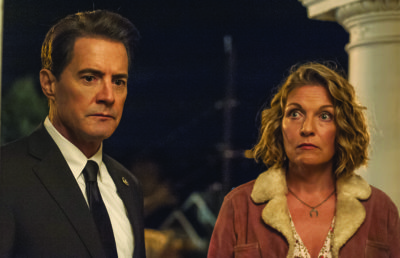 Kyle MacLachlan and Sheryl Lee in a still from Twin Peaks.